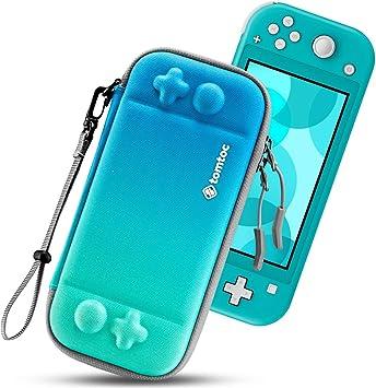 tomtoc Funda Delgada para Nintendo Switch Lite, Patente Original Estuche Rígido con cartuchos para 8 Tarjetas de Juegos, Funda Dura Transporte con Proteción de Nivel Militar, Azul torcido: Amazon.es: Electrónica