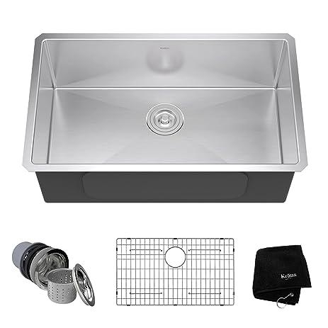 Wonderful KRAUS KHU100 30 30 Inch 16 Gauge Undermount Single Bowl Stainless Steel Sink