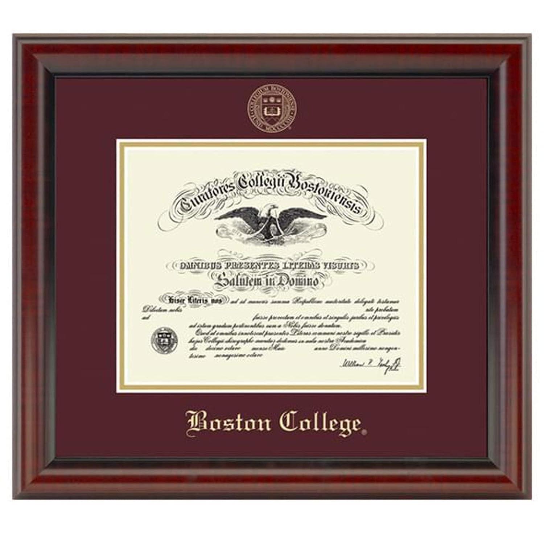 M The Fidelitas LA HART Boston College Diploma Frame