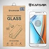 KAPAVER Moto G4 Plus tempered glass, 2.5D Arc Edge 9H Hardness Premium Screen Guard Protector for moto g4 plus