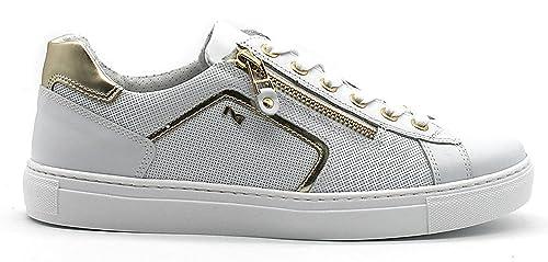 Scarpe sportive Nero Giardini P805262D 707 5262 Sneaker in pelle bianche
