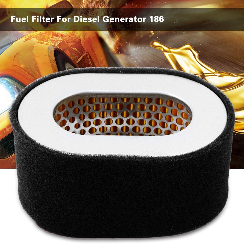 Wytino Filtro de Combustible Filtro de Aceite Combustible de Repuesto de Acero Inoxidable para Motor generador Diesel 186 Negro