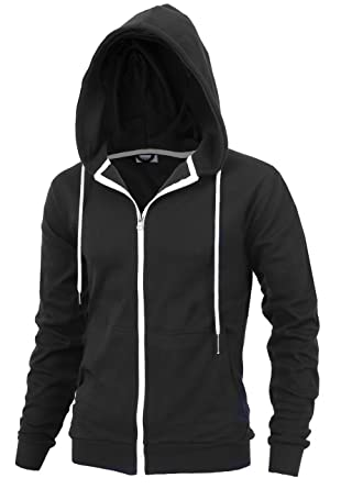 """bf638da6886382 DELight"""" Men's Fashion Fit Full-Zip Hoodie with Inner Cell Phone  Pocket (US"""