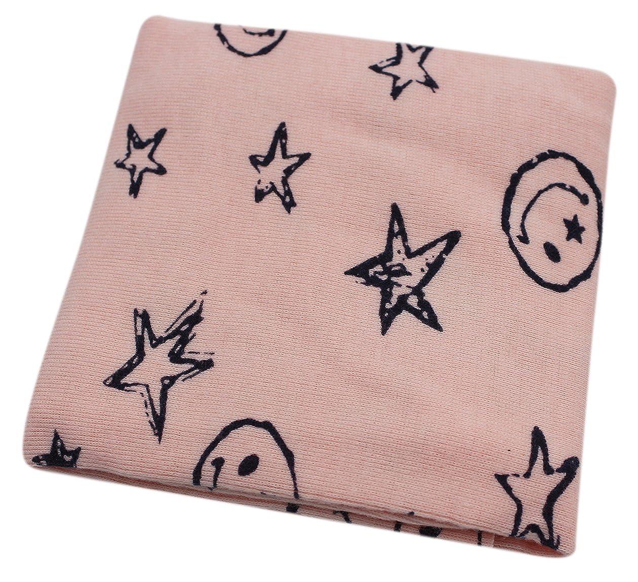 Aibearty Kids Winter Warm Cotton Infinity Scarf Cute Star Print Neck Warmer