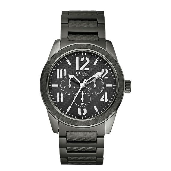 Guess W15073G2 - Reloj analógico de cuarzo para hombre con correa de acero inoxidable, color