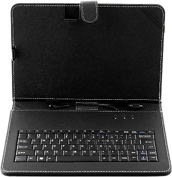 Rosepoem Estuche de Cuero para Teclado USB Funda Universal con Interfaz para Teclado Micro Interfaz para Tablet PC de 10,1 Pulgadas: Amazon.es: Electrónica
