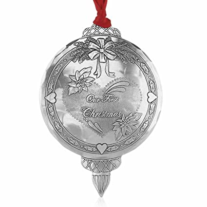 Wendell August First Christmas Together Ornament, Metal, Handmade in the  USA Forge - Amazon.com: Wendell August First Christmas Together Ornament, Metal
