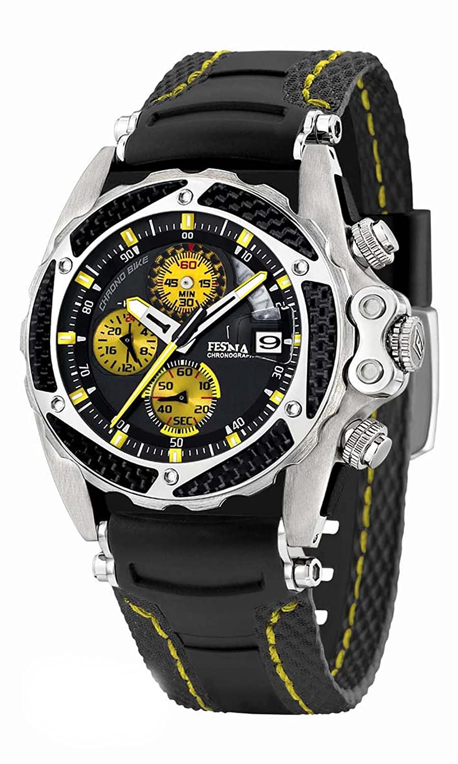 Amazon.com: Festina Mens Quartz Stainless Steel and Rubber Casual Watch, Color:Black (Model: F16272/4): Festina: Watches