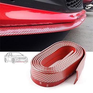 per Auto in Fibra di Carbonio Volwco SUV Decorazione Fai da Te Camion 2,5 m Universale Spoiler per paraurti Anteriore