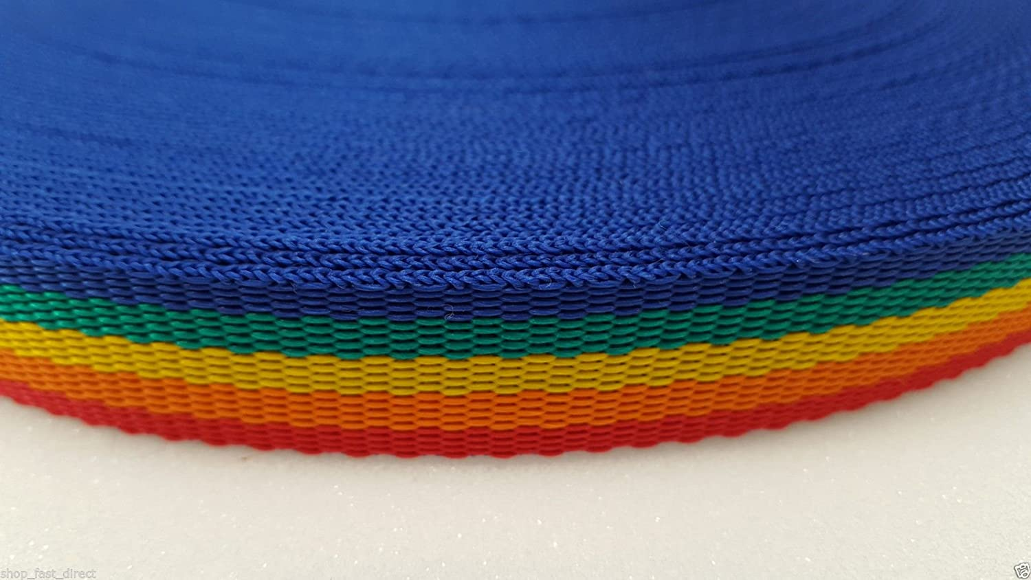 100m 25mm Rainbow Webbing Rolls Polyproplene 440kg Straps and Lashing