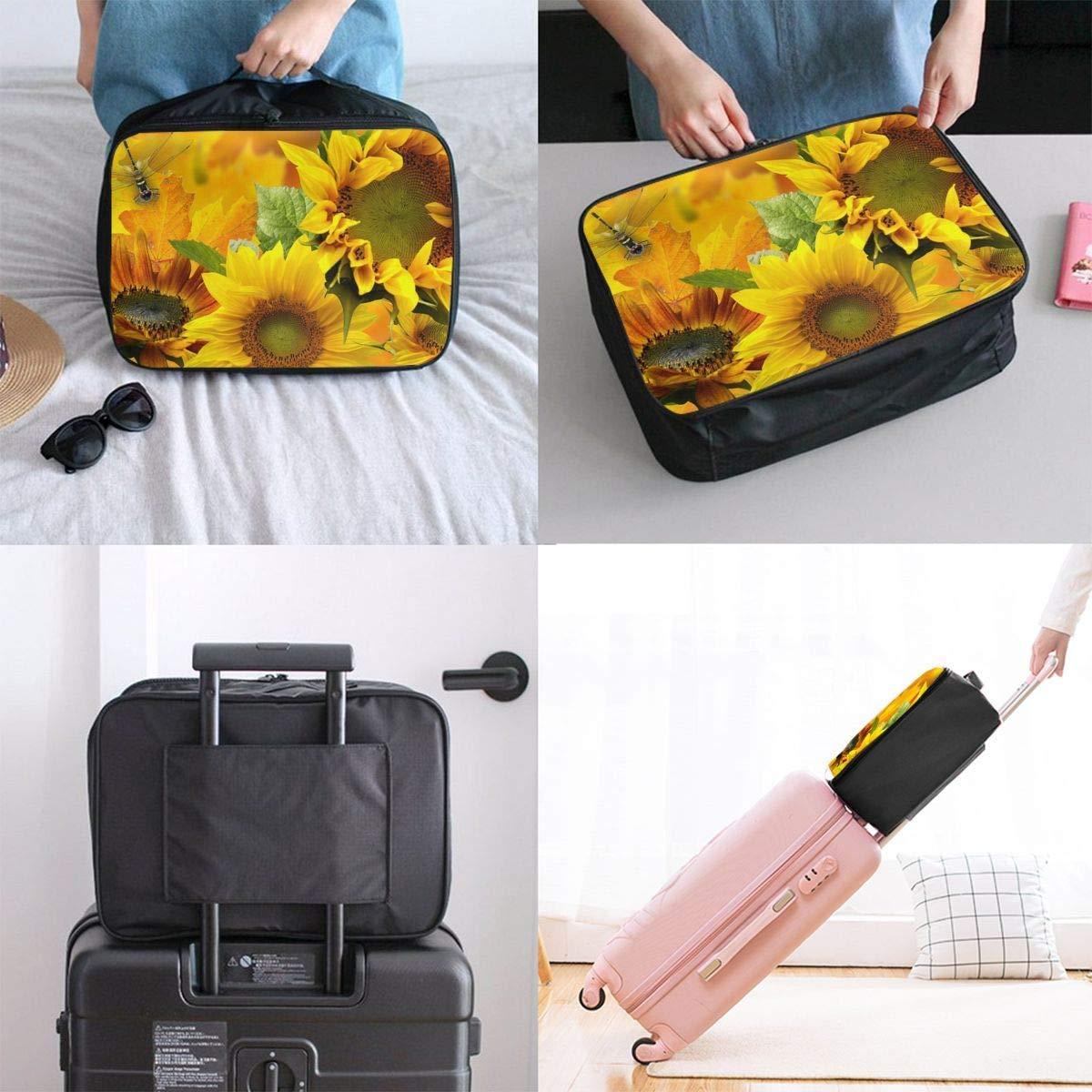 JTRVW Luggage Bags for Travel Yellow Sunflower Travel Duffel Bag Waterproof Fashion Lightweight Large Capacity Portable Duffel Bag for Men /& Women