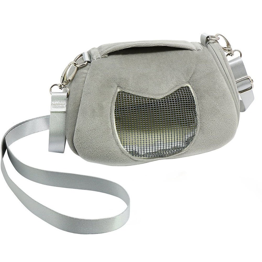 ASOCEA Portable Pet Carrier Outgoing Handbag with Adjustable Single Shoulder Strap Pouch for Sugar Glider Squirrel Hamster Small Animals 7.08x4.72x3.93 Inch