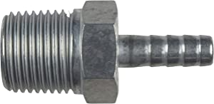 """ICT Billet Straight 1/2"""" NPT Pipe to 5/16"""" .3125"""" Hose Barb Fitting Bare Aluminum AN840-05-08A"""