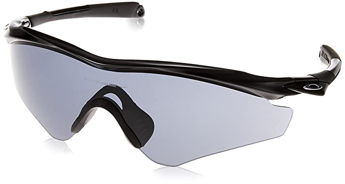 Amazon.com: Oakley Men\'s (a) M2 Frame XL Shield, Polished Black, 145 ...