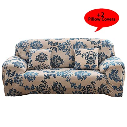Aibixi Stretch Sofa Slipcover Printed Sofa Cover Spandex Fabric Couch Covers Stylish Furniture Shield/Protector (90