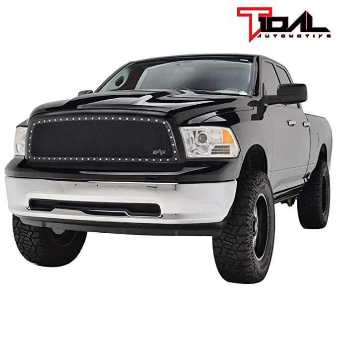 EAG Steel Mesh Rivet Replacement Grille ABS Shell Fit for 06-08 Dodge Ram 1500//06-09 Dodge Ram 2500//3500
