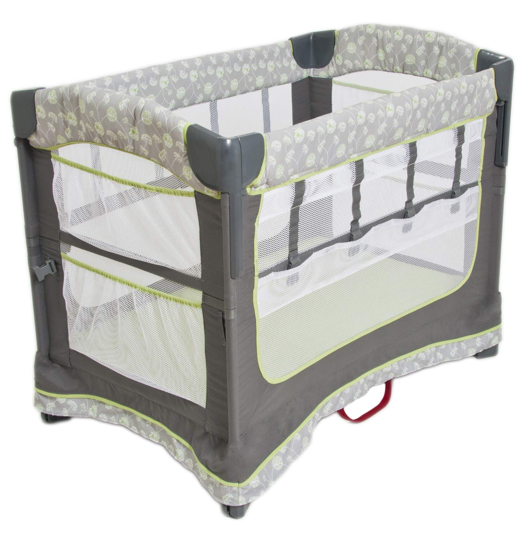Arm's Reach Concepts Ideal Ezee 3-in-1 Bedside Bassinet - Dandelion