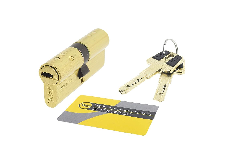 Yale, HSK3030LT, Cilindro de Alta Seguridad, 30 x 30 mm, Latonado: Amazon.es: Bricolaje y herramientas