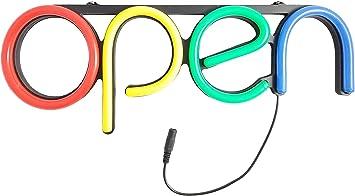 Amazon.com: LED abierto señal de neón, para negocios, tienda ...