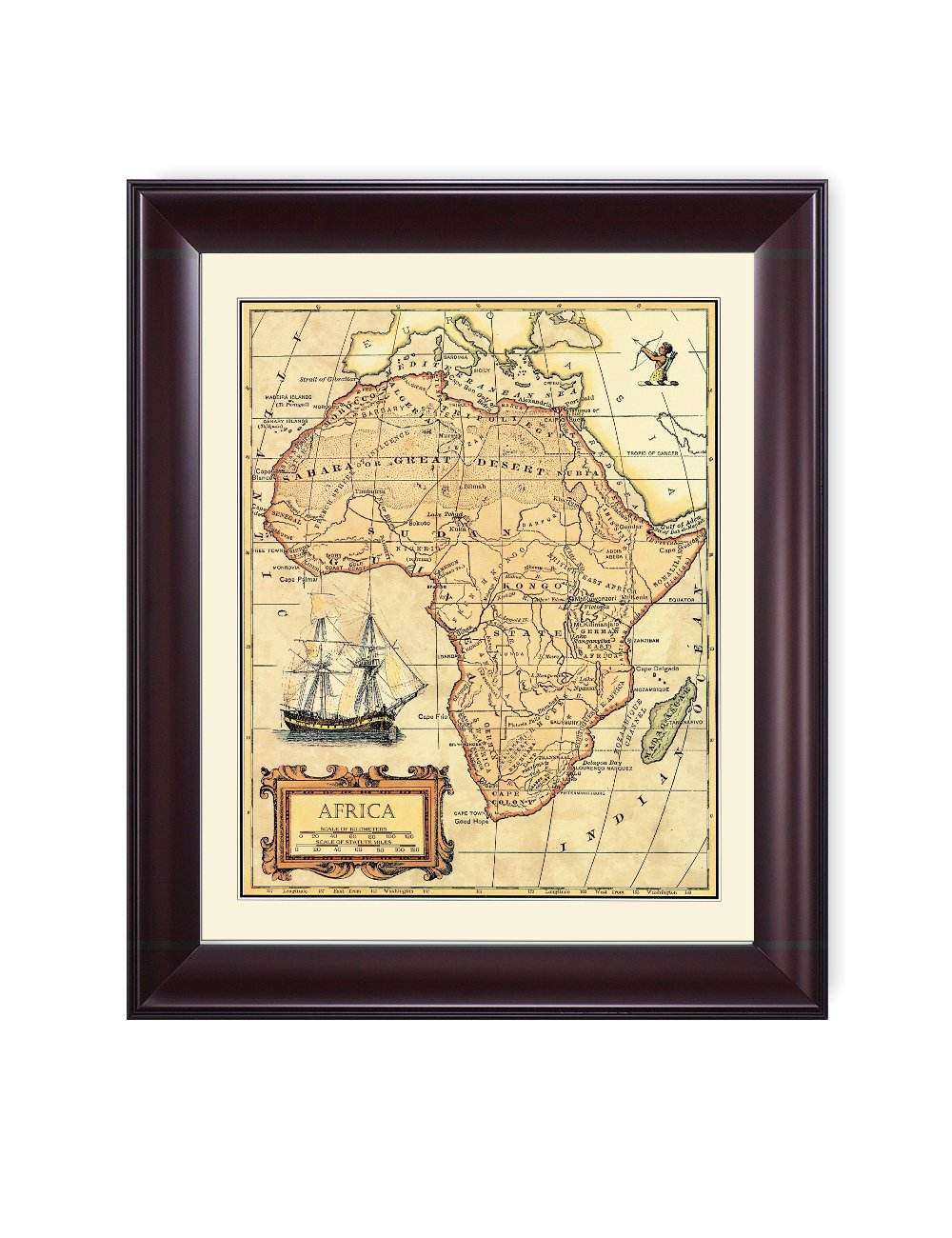 Amazon.com: DecorArts- Africa map, Ancient Map Giclee Print wall art ...