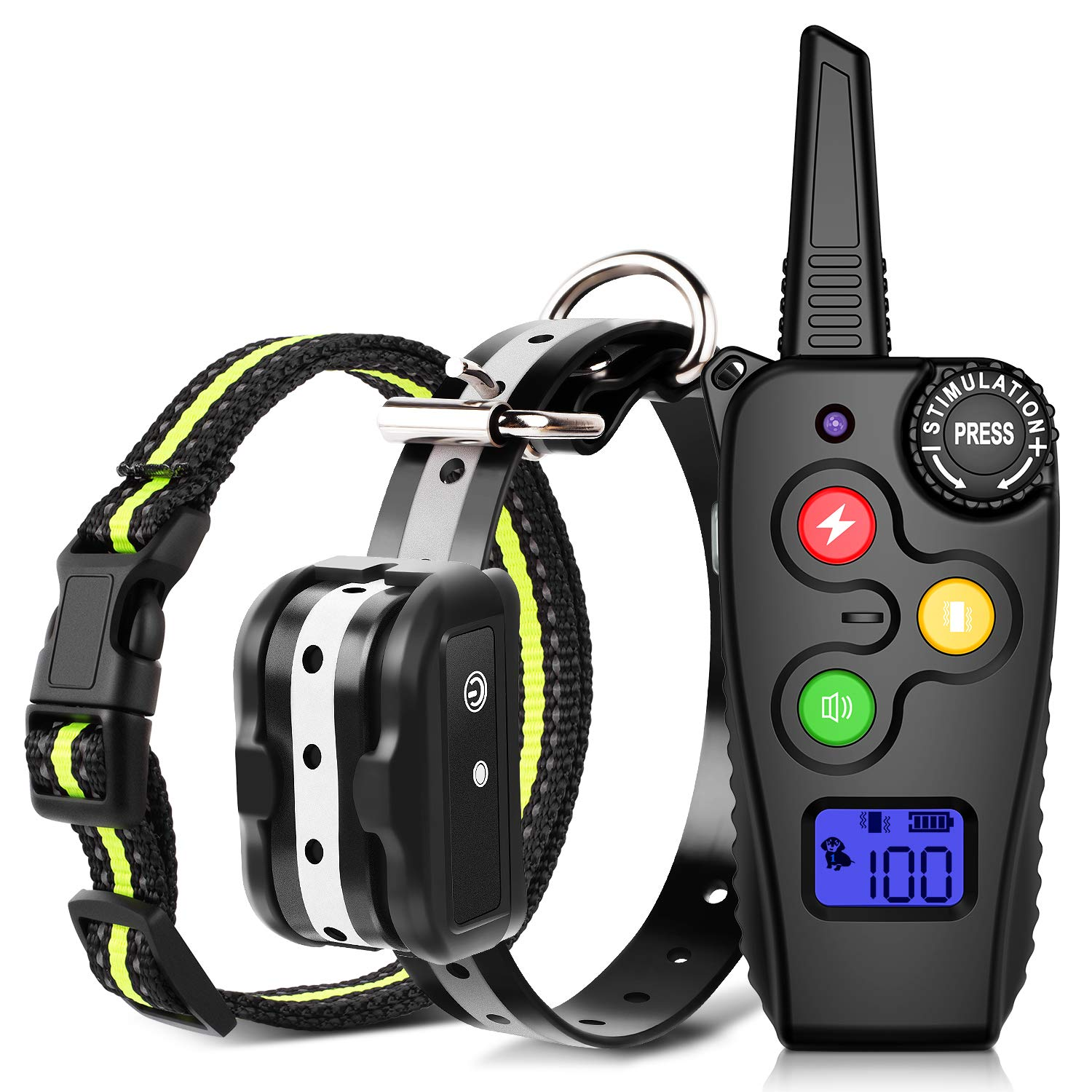 Ankace Shock Collar for Dogs with Remote Dog Training Collar Rechargeable No Bark Collar with Shock Modes Remote Collar Waterproof Shock Collar for Small Medium large dog by Ankace