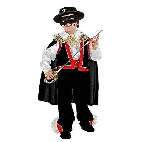 Unbekannt Traje de niños Black Avenger Zorro Máscara Capa ...
