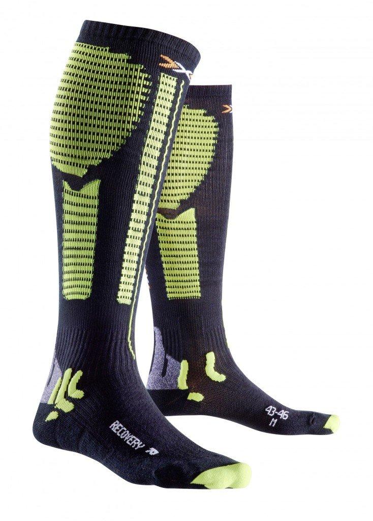 X-Bionic Precuperation Socks Black/Acid Green, 39/42 L