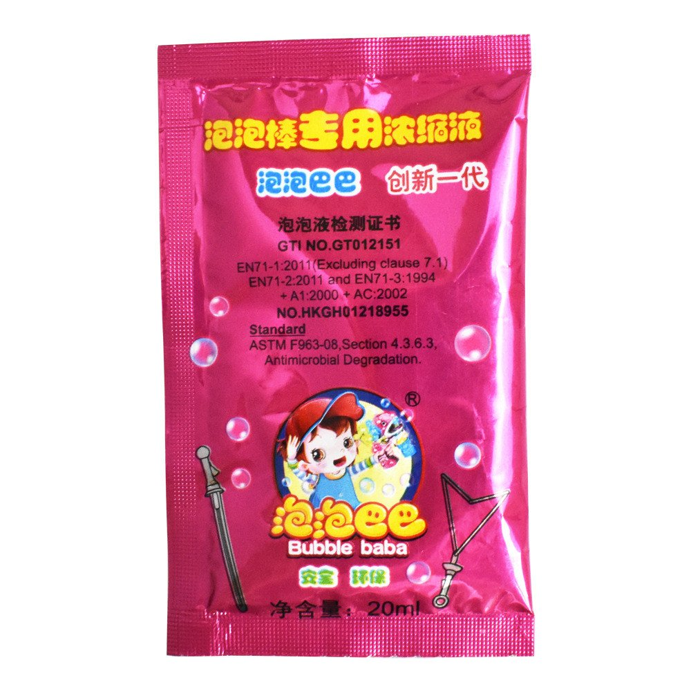 Sunny&Love ZHUOJU 20ml Non-Toxic Bubble Soap Liquid Professional Bubble Water Liquid (Red)