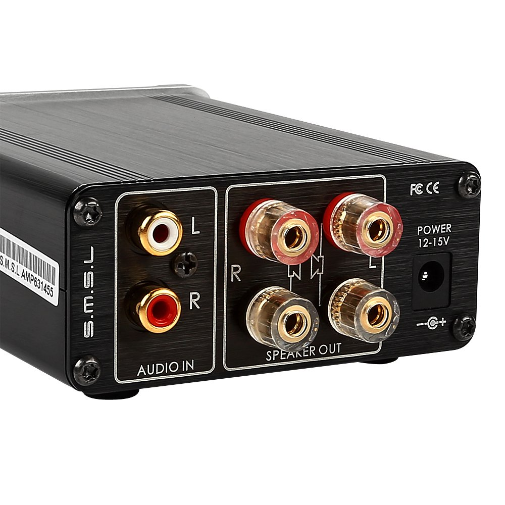 SMSL SA-36A Pro HIFI Audio Class d Verst/ärker Digital mit 12V Netzteil Schwarz