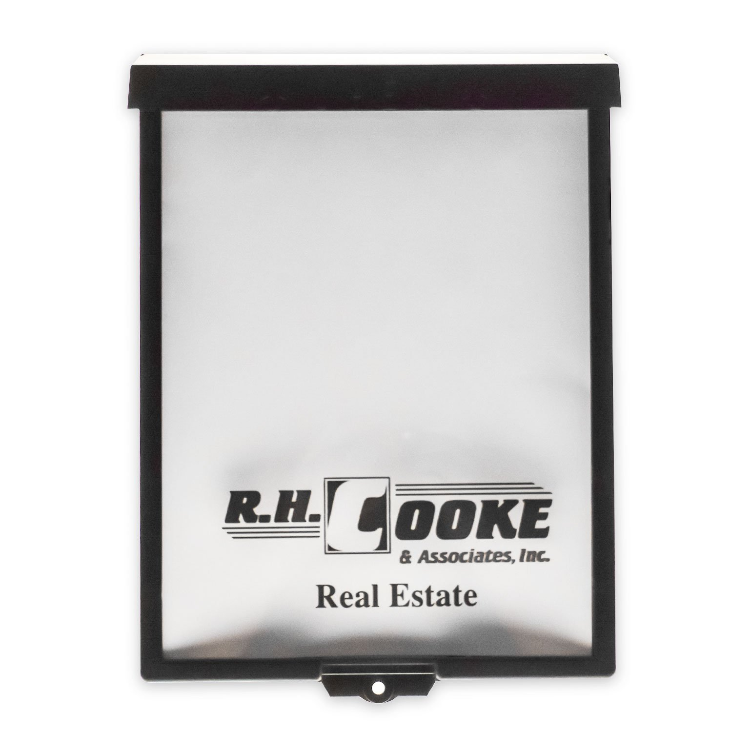 Source One Outdoor Realtor Style Brochure Holder Color Variety White & Black Options Available (16 Pack, Black Customized)