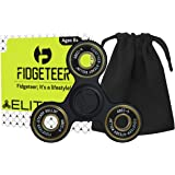 Fidgeteer Fidget Spinner Toy with Pouch and Warranty