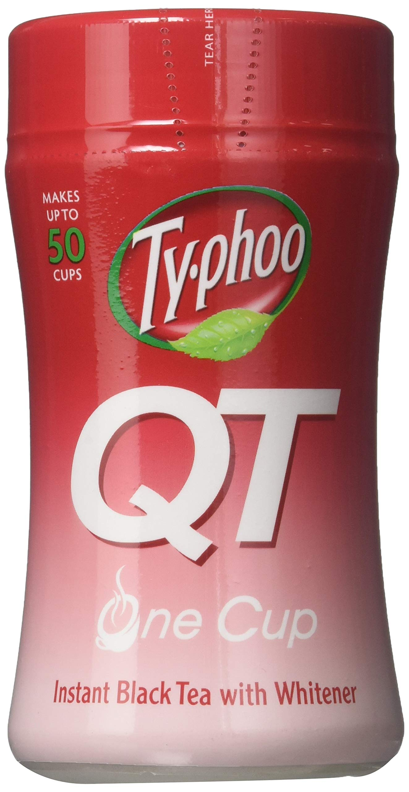 Typhoo QT Instant Black Tea with Whitener - (125g)