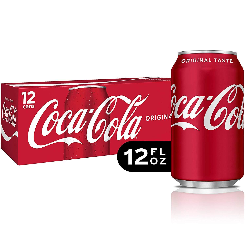 Coca Cola Original Coke Taste Soda Soft Drink - 12 Pck (12 oz)