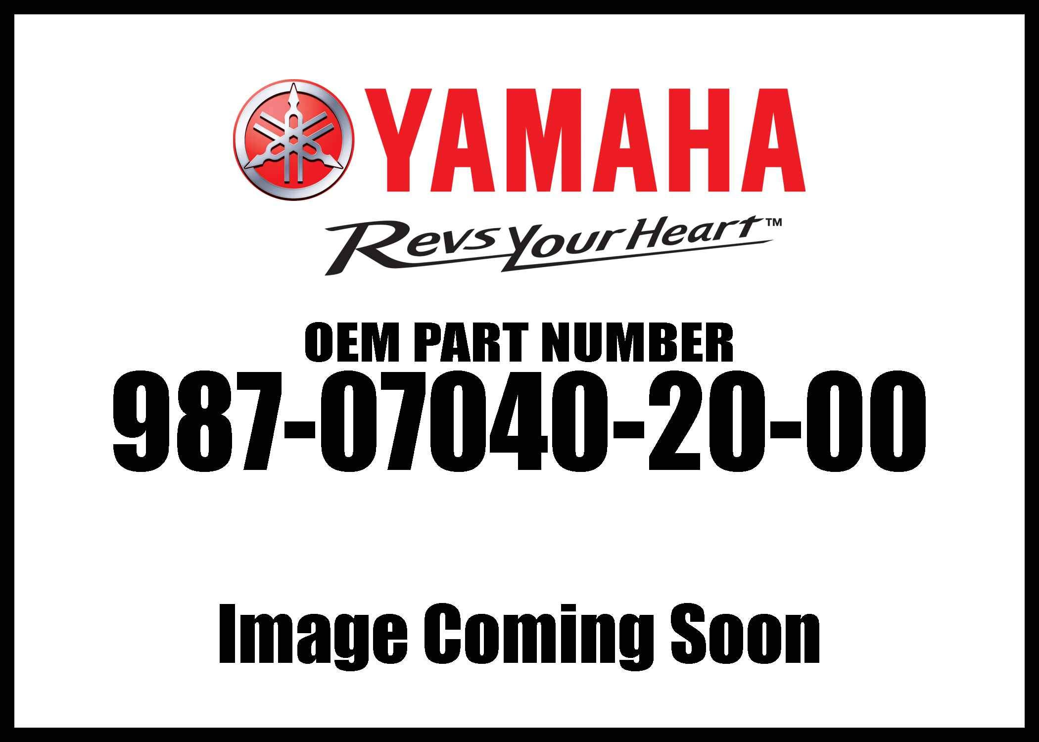 Yamaha 98707-04020-00 Screw, Flat; 987070402000 Made by Yamaha