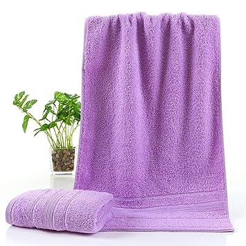 TDPYT 5 Unids/Toalla De Algodón Puro Color Liso Paño Espeso Toalla De Baño Toalla Absorbente Suave 35 * 75 Cm Violeta: Amazon.es: Hogar