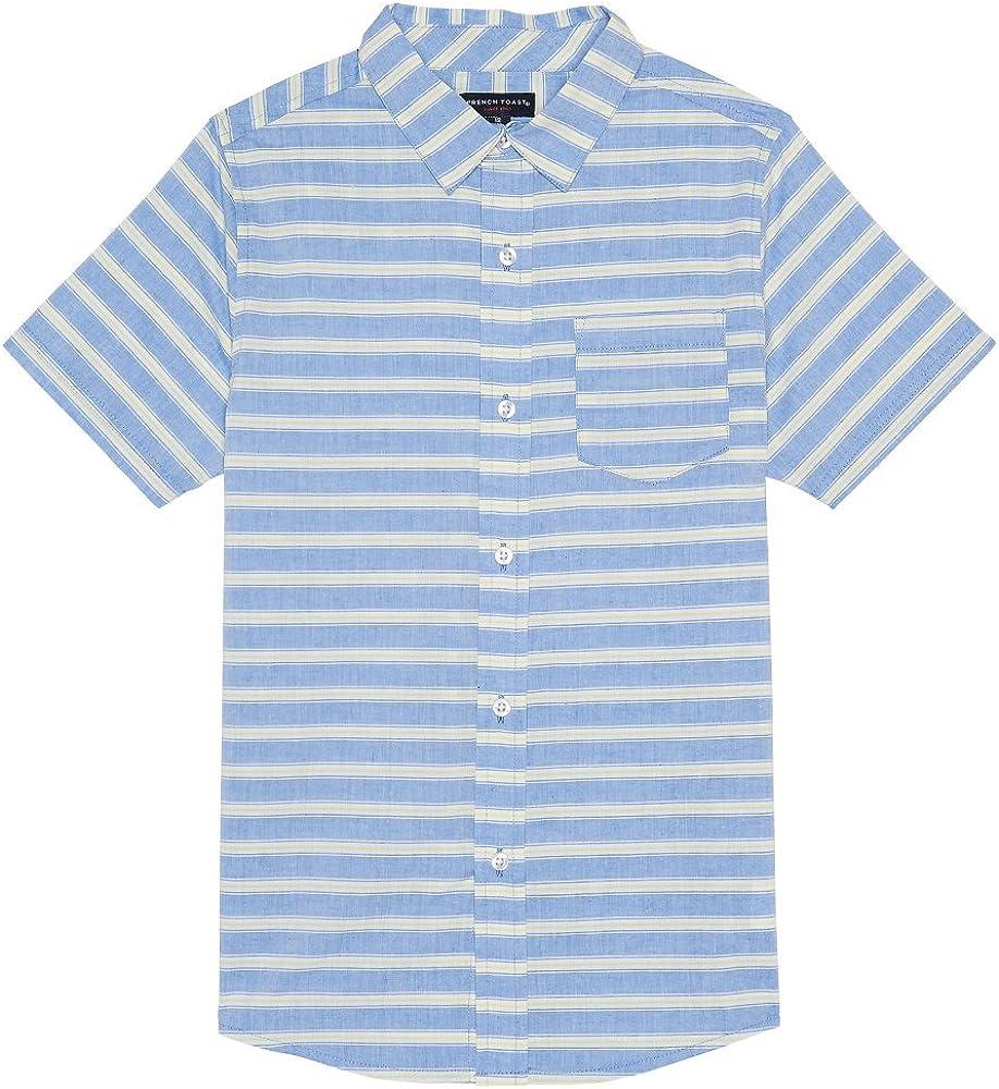 French Toast Boys Short Sleeve Woven Shirt