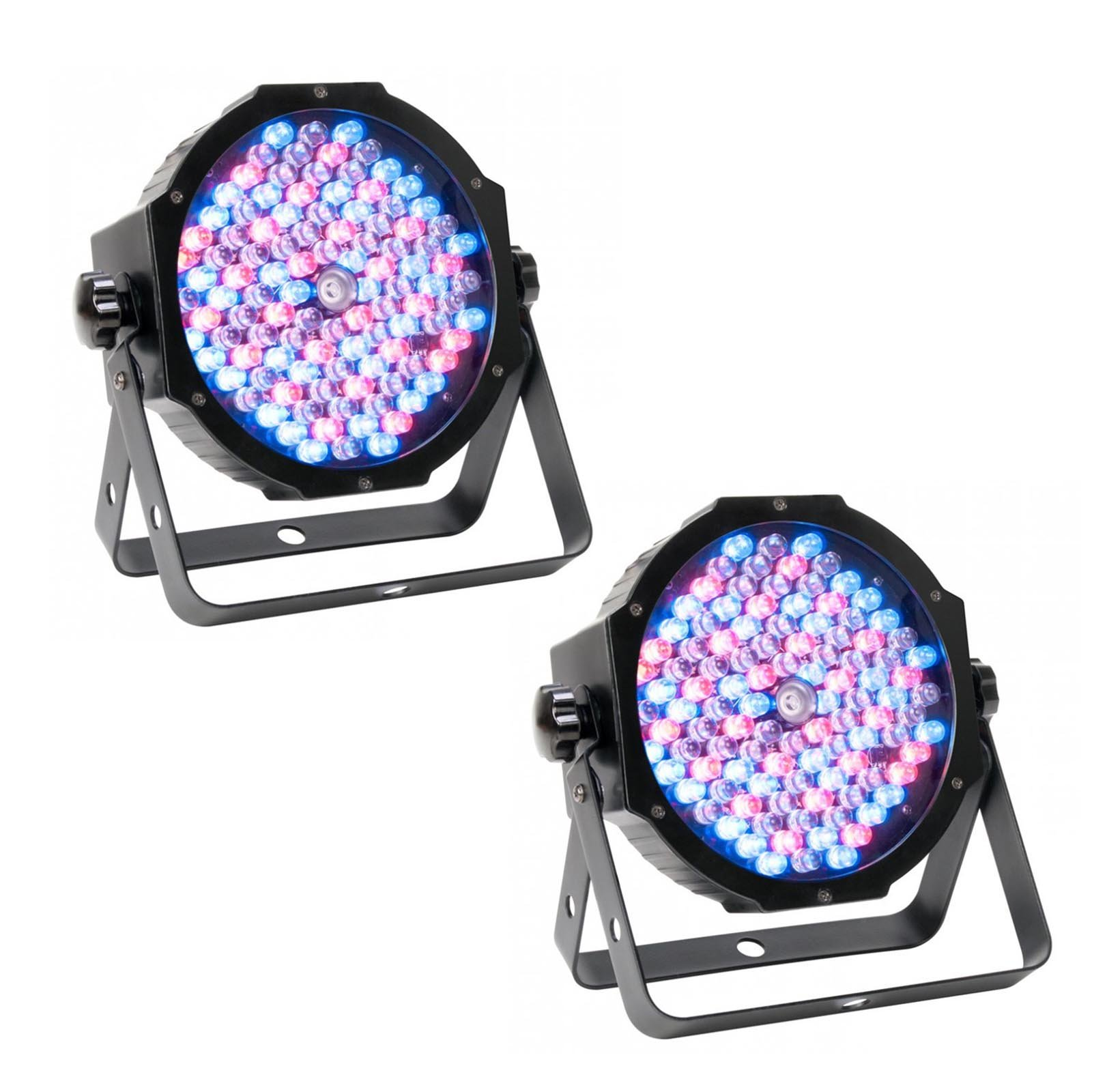 (2) American DJ Mega Par Profile Plus Bright LED Par Can Wash DJ Effect Lights by American DJ