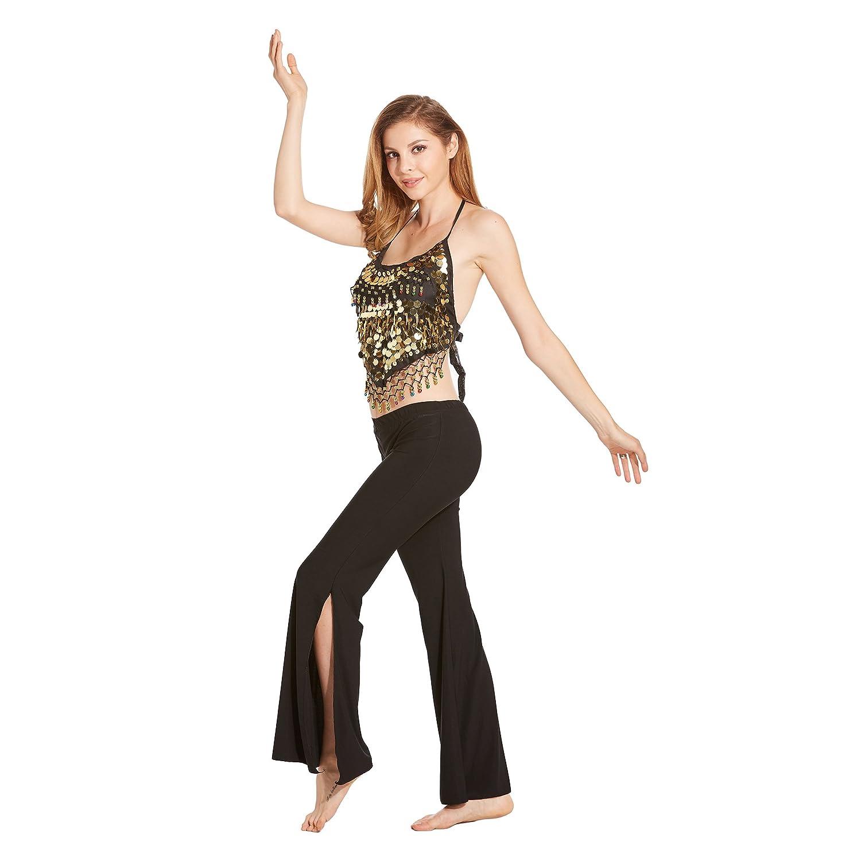 Prix//pi/èce VENI MASEE Danse du Ventre Or Paillettes Soutien-Gorge avec Rembourrage Danse du Ventre d/éguisement /& Accessoires