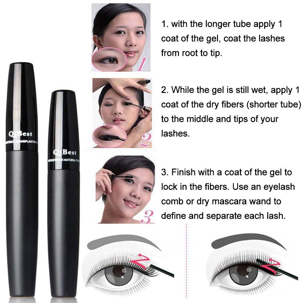 621e0025702 Amazon.com : 3D Fiber Lashes, 3D Fiber Lash Mascara, 3D Mascara, Premium Fiber  Mascara for Length and Volume, Waterproof, Smudge proof, Hypoallergenic, ...