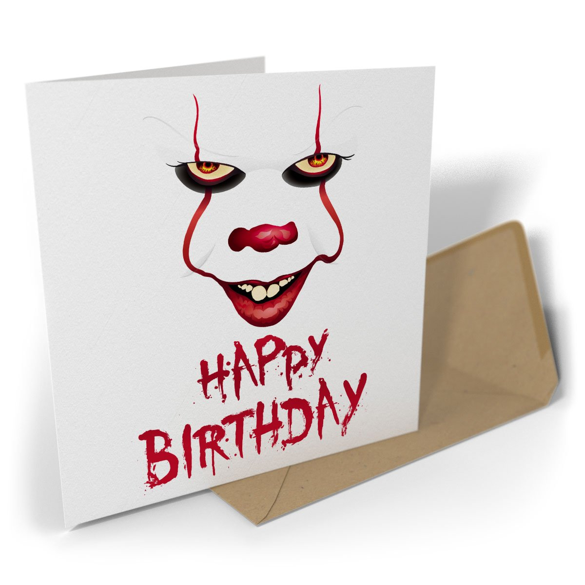 Greetings Card: Happy Birthday | Clown Black Raven Design