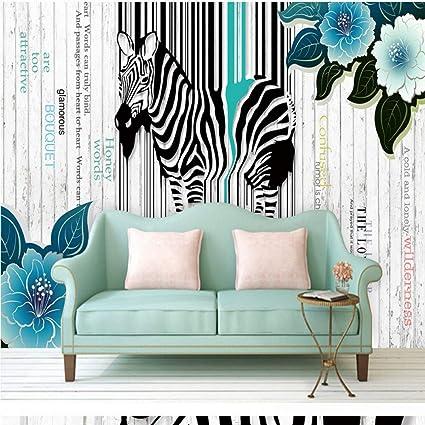 Amazon.com: Amazhen Wallpaper 3D Beautiful Abstract Zebra ...