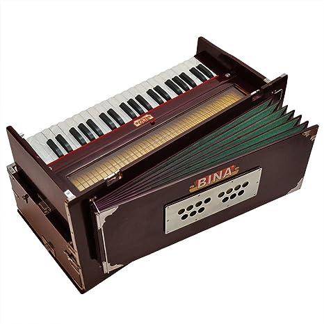 Harmonium Bina 23 B deluxe, 3.5 octavas, color caoba oscuro ...