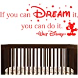 If You Can Dream It You Can Do It - Walt Disney Wall Sticker Quote (Medium)