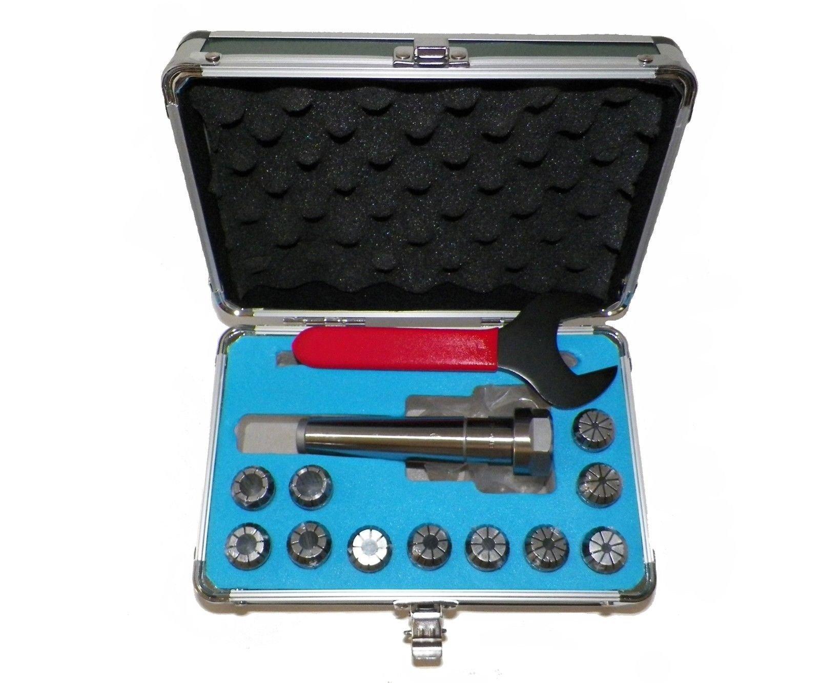MT3 ER20 Collet Chuck Tool Holder Set 11 Pcs ER20 Collets Holder