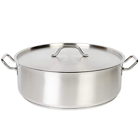 Thunder Group SLSBP015 Stainless Steel Brazier, 15-Quart