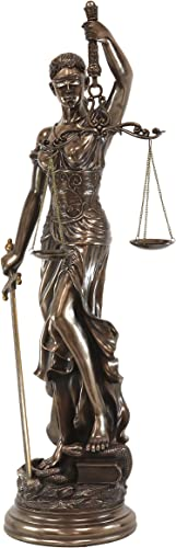 Ebros Large 4 Feet Greek Goddess of Justice Blindfolded La Justica Themis Statue Roman Deity Dike Scales of Justice Decorative Figurine for Lawyers Civil Servants Justices Supreme Court Fans