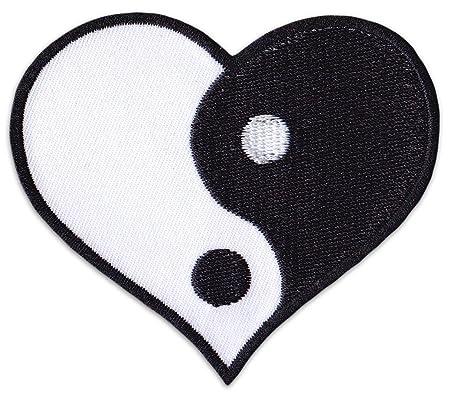 Yin & Yang Corazones parche para planchar Patch Yogi Amor ...