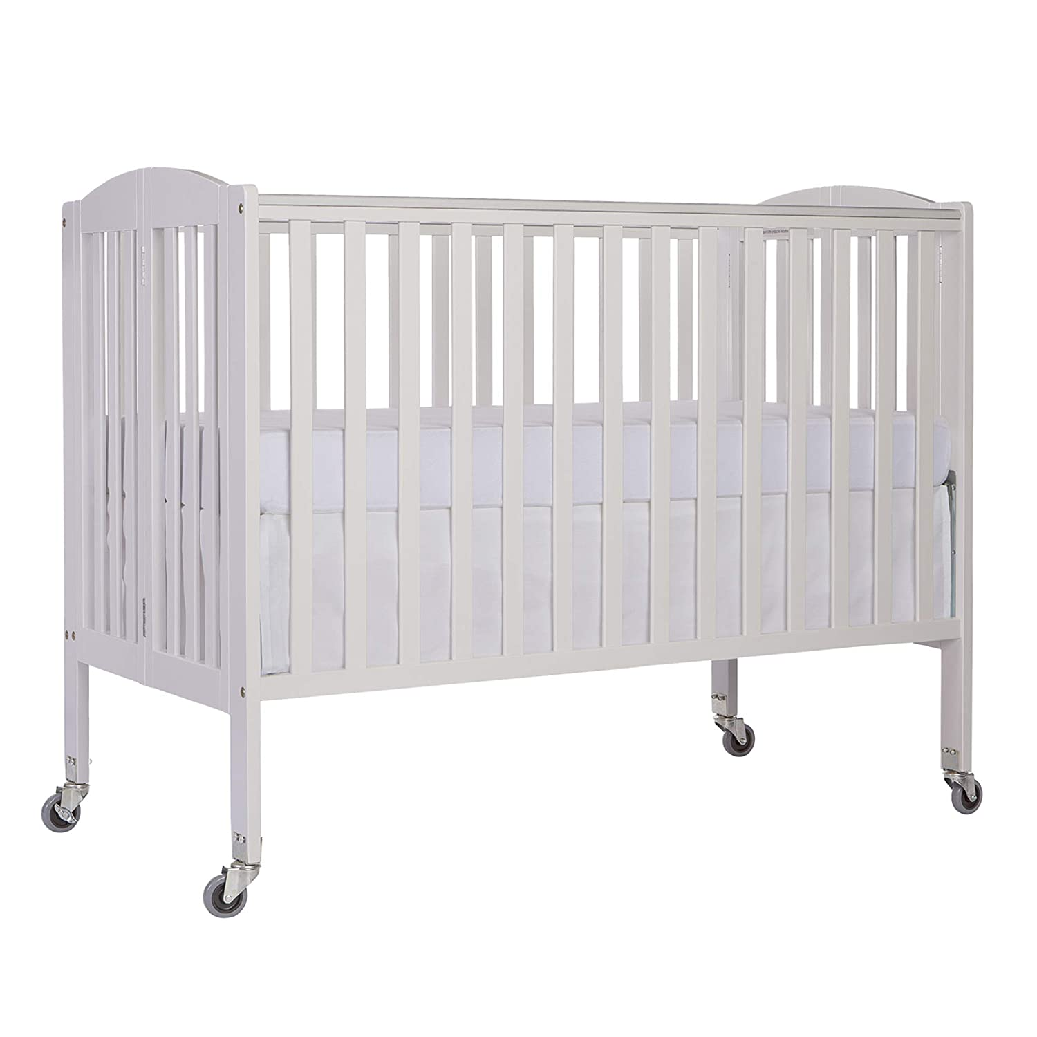 Dream On Me Folding Full Size Convenience Crib in Storm Grey