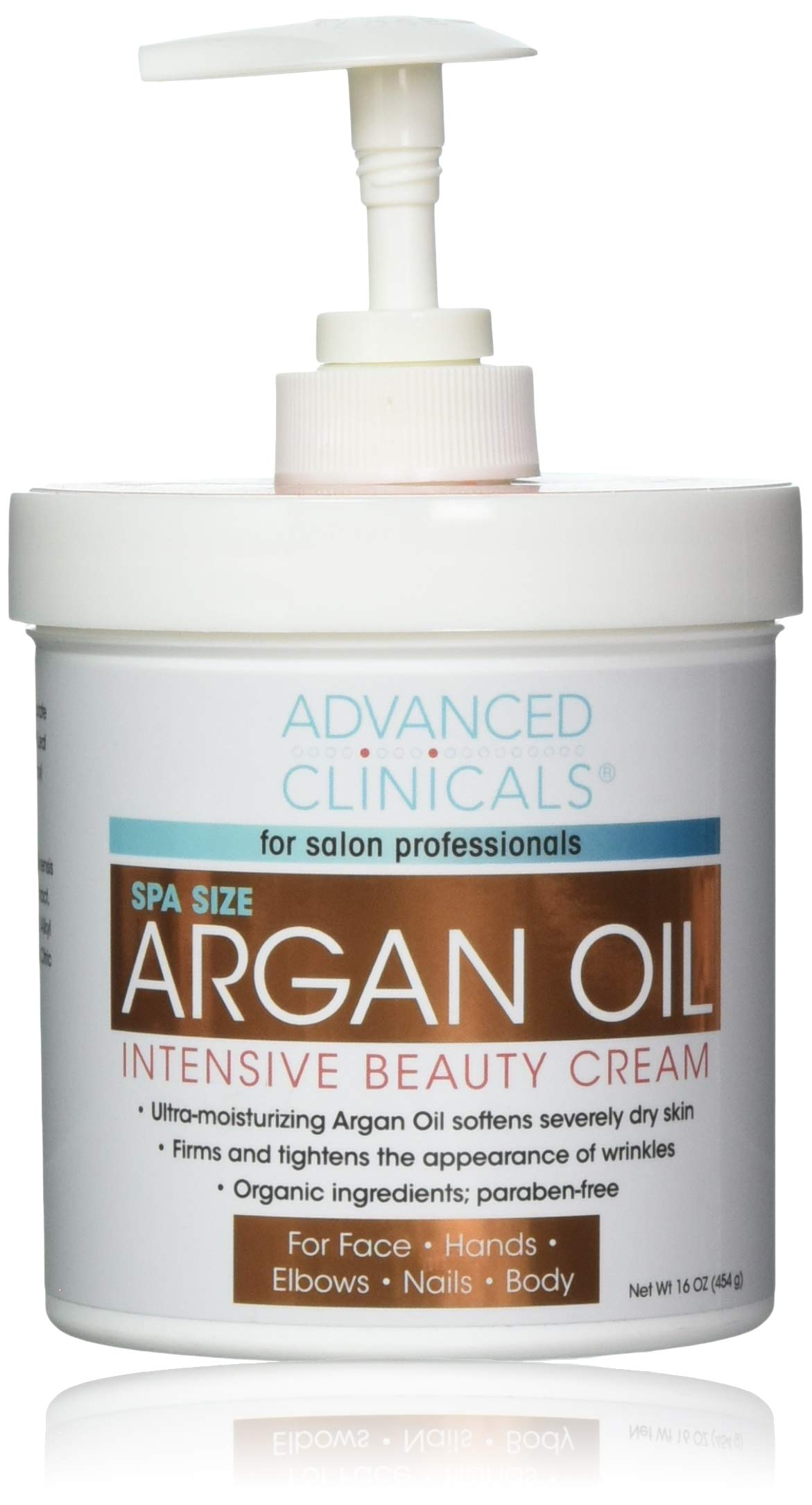 Advanced Clinicals Spa Size Pure Argan Oil Intensive Beauty Cream