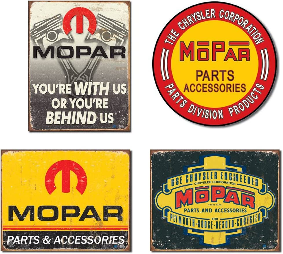 Mopar you/'re with us tin metal sign our home wall decor